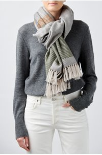mika scarf in marble grey