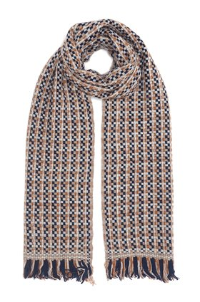 natty scarf in beige navy
