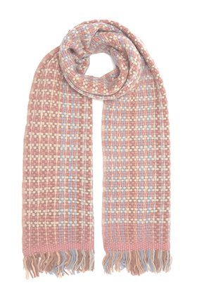 natty scarf in pink blue