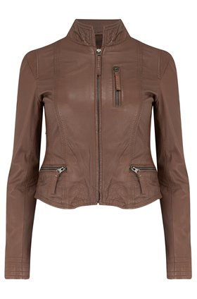 ruci leather jacket in bison