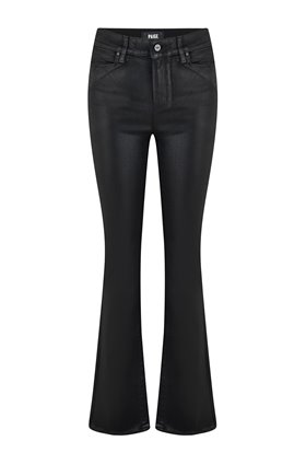 manhattan bootcut jean in black fog coated