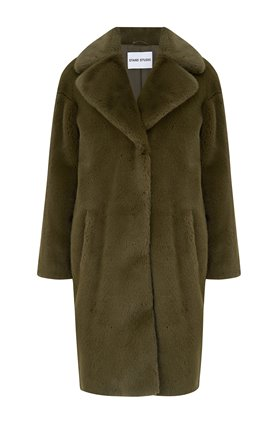 camille coat in army green