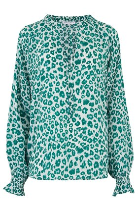 florence blouse in green mini isla