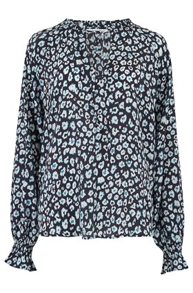 florence blouse in navy mini isla