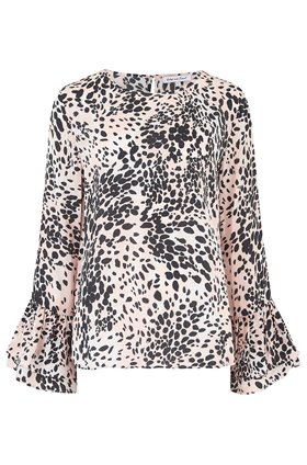 ella blouse in snow leopard