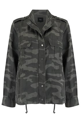trey jacket in charcoal camo