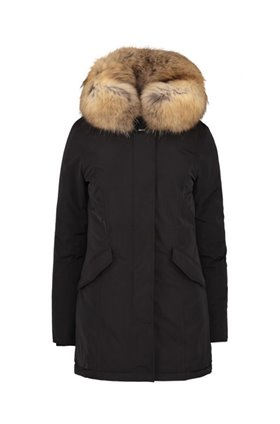 luxury arctic parka in black