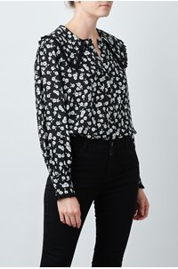 misha blouse in mono floral