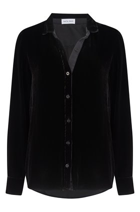 contrast halle shirt in black