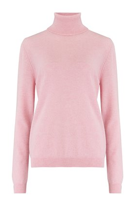 classic roll collar in pink marl
