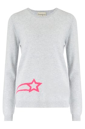 charm crew in grey & pink