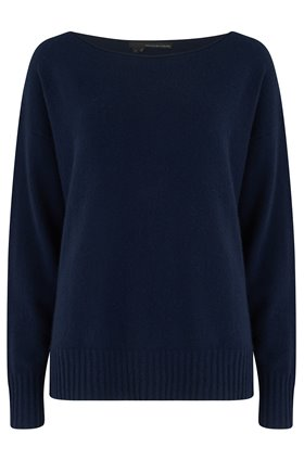 sadie boatneck in navy