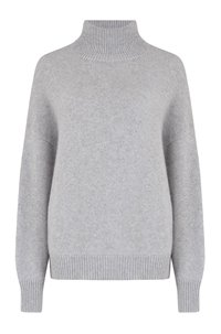leia roll neck in light heather
