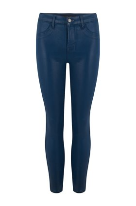 alana skinny in coated stellar navy