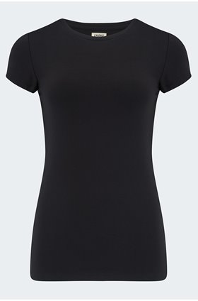 ressie crew tee in black