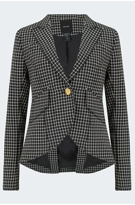 one button blazer in black