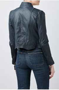 ruci leather jacket in navy