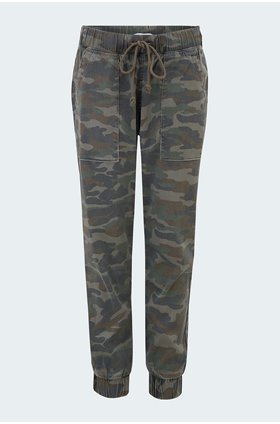 camo jogger in army charcoal