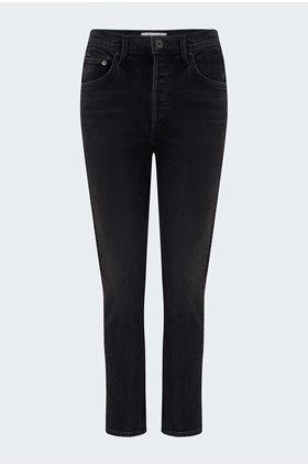 riley straight cropped jean in panoramic