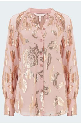 rebecca taylor datura blouse in pale orchid