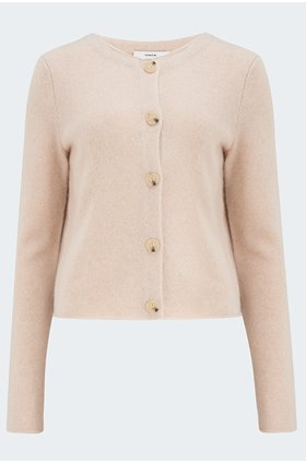 crew cardigan in champagne
