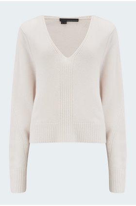 wendi v-neck jumper in chalk