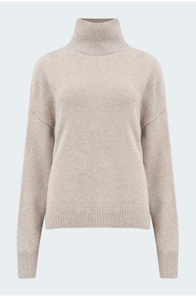 leia roll neck in sesame