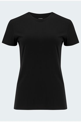 essential crew t-shirt in black