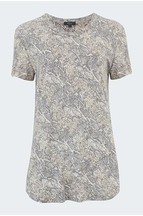 asher t-shirt in snakeskin ivory