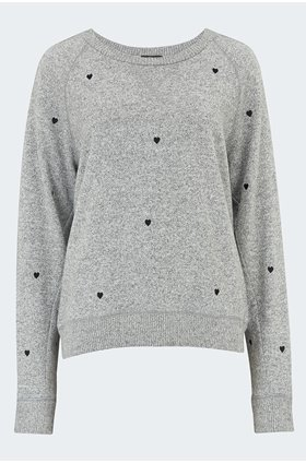 callahan hearts sweatshirt in grey