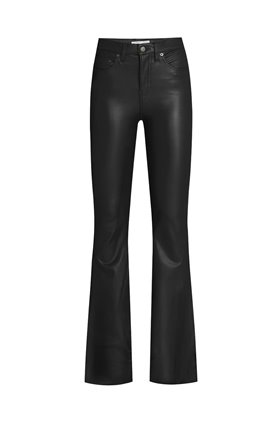 beverly vegan leather trousers in black