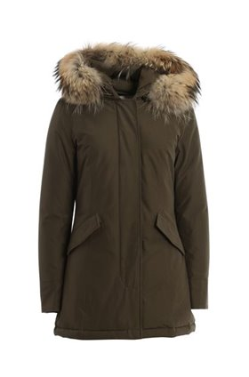 luxe arctic parka in olive