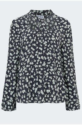 josie blouse in black daisy