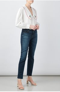 lila embroidered blouse