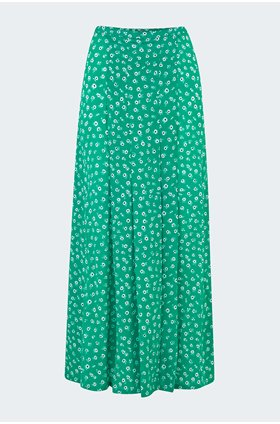 georgia skirt in green daisy