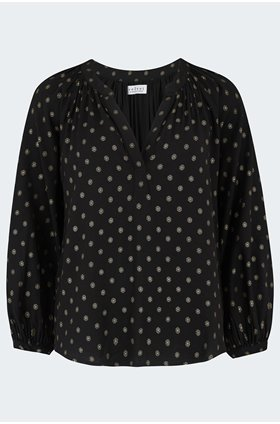 maisee blouse in polka dot