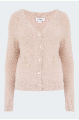 elle cardigan in blush