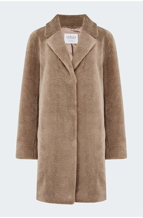 trishelle coat in mink