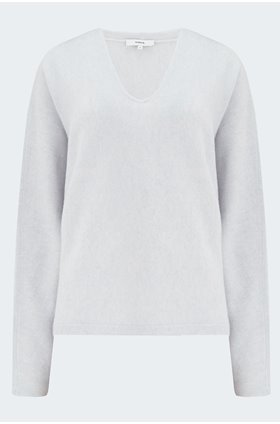 v neck dolman jumper in powder blue