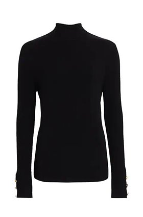 odette turtleneck knit in black