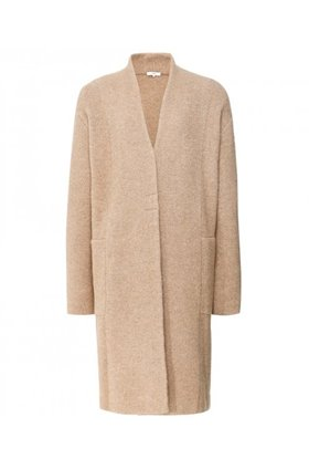 cardigan coat in camel