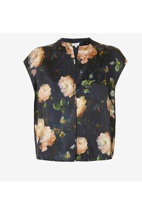painted rose shell top