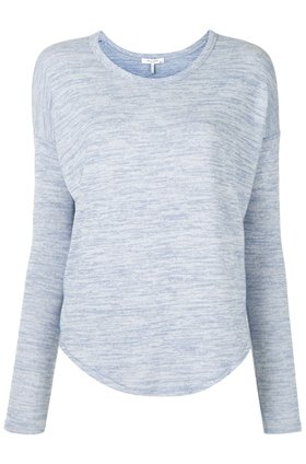 long sleeve top in dusky lavender