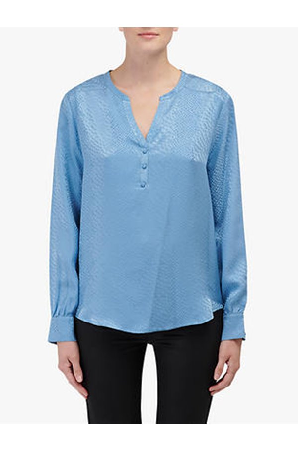 jayne silk blouse in blue