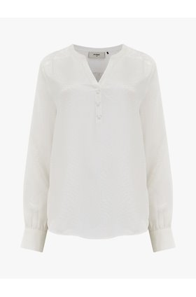 jayne silk blouse in white