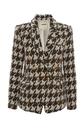 kenzie blazer in brown houndstooth
