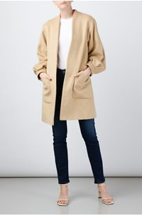 balloon sleeve jacket in beige