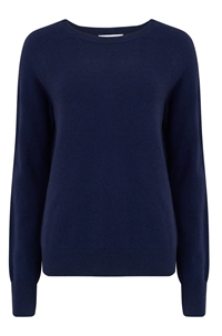 sloane crew neck sweater in peacoat