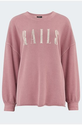 signature sweatshirt in vintage rose