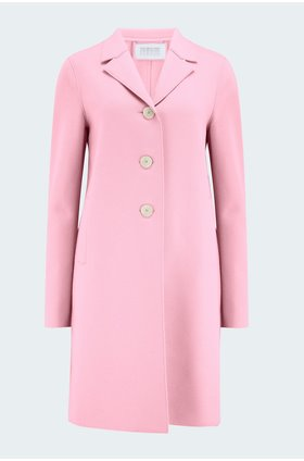 boxy coat in pink